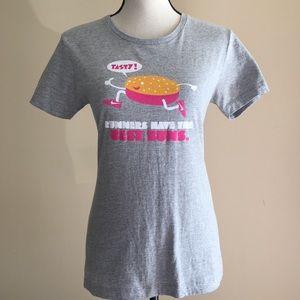 Nike Womens Short Sleeve Shirt Fitted Small Runner